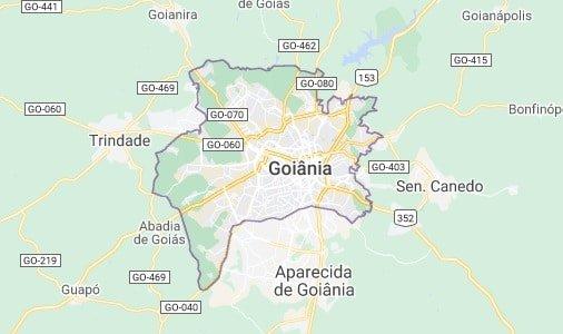 mapa goiania