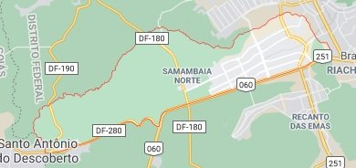 mapa Samambaia df