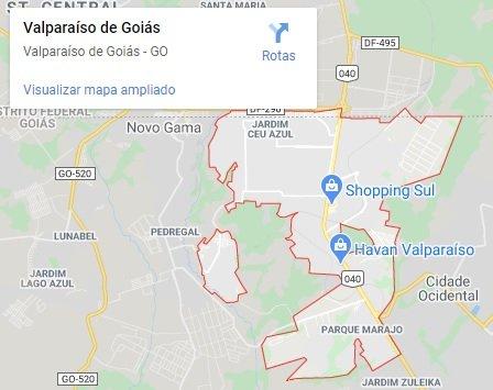 mapa valparaiso de goias
