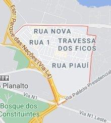 mapa vila planalto df